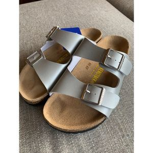 Birkenstock Arizona Silver size 37 new!